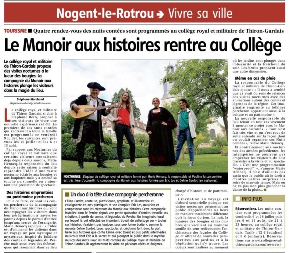 Le Manoir aux Histoires rentre au Collège